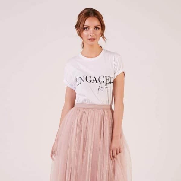 engaged AF white t-shirt | MIMI TOKO